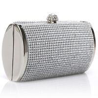 Damen Kristall Silber Party Hochzeit Ball Diamant Abend Tasche Clutch