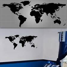 "World Map Wall Decal, World Map Wall Sticker - 48"" x 20"""