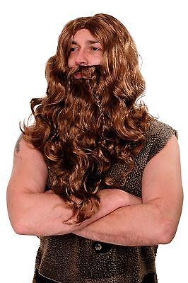 Wig Beard Full Beard Carnival Viking Viking Berserker Barbarian Brown WIG007-P8