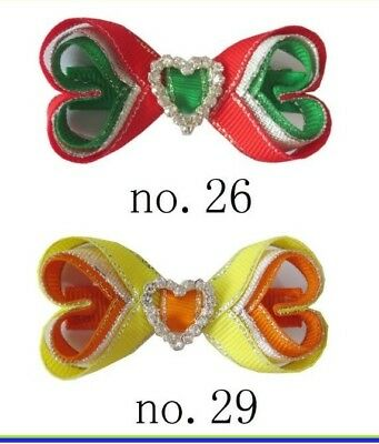 """100 BLESSING Good Girl Custom Boutique 2.5/"""" Bowknot Hair Bow Clip #420 Wholesale"""