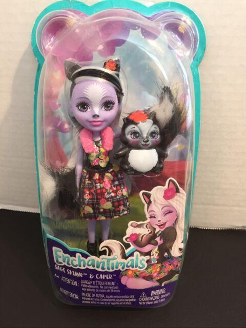 Enchantimals Sage Skunk & Caper Doll~New~ Mattel