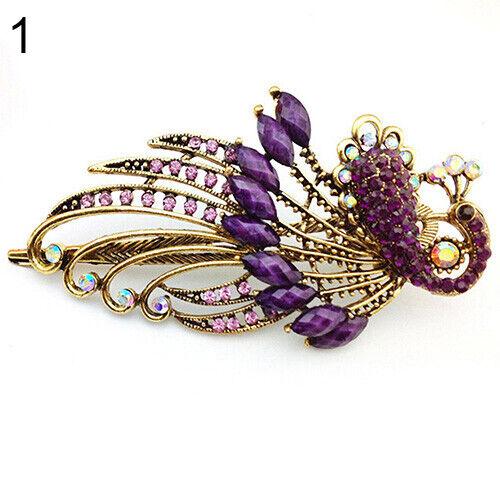 Damen Vintage Elegant Pfau Haarnadel Strass Haarspange Beauty Werkzeug