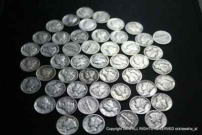 Choose How Many 90/% Silver Coin Lot Silver Dimes 1916-1945 Circulated