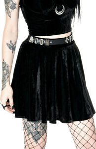 Restyle-Occult-Witchcraft-Witch-Wicca-Moon-Child-Gothic-Nugoth-Punk-Velvet-Skirt