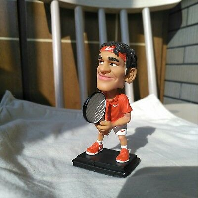 Limited Edition Roger Federer Bobble Head Tennis Figure Retail Price $89