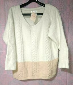 Liz-Lisa-2-ton-color-sweater-mokomoko-ivory-amp-light-orange-fluffy-warm-kawaii
