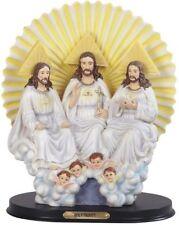 "10.5"" Statue Holy Trinity Father Son Holy Spirit Angel Jesus Christ Figurine"