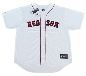 Boston-Red-Sox-MLB-Majestic-Team-Men-039-s-Replica-Jersey-White-Big-amp-Tall-Sizes