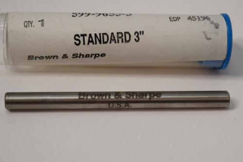 "New Brown /& Sharpe 3/"" Micrometer Calibration Standard 599-9655-3 USA"