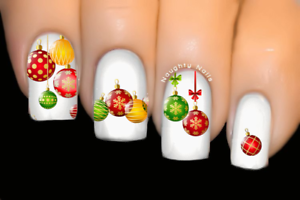 Xmas-Baubles-Christmas-Nail-Decal-Water-Transfer-Sticker-Tattoo