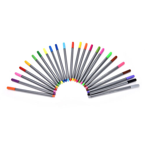 24Pcs Fineliner Pens Color Set Markers Tool For Art Painting Kids Gift Quality