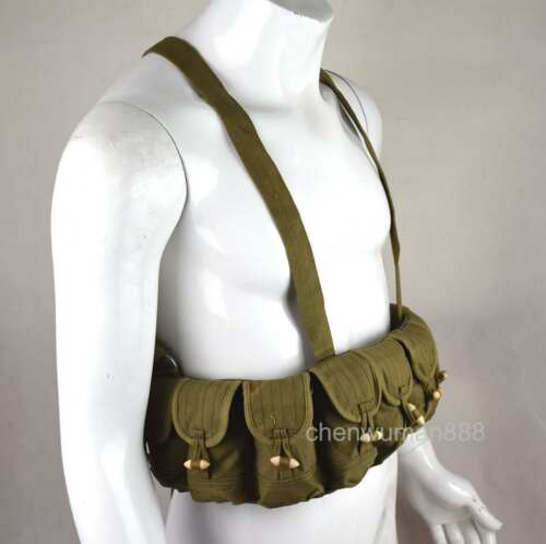OUTDOORS ORIGINAL CHINESE ARMY SKS TYPE 56 SEMI AMMO CHEST-RIG BANDOLIER BAG OLD