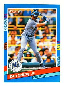 Ken Griffey Jr. #77 (1991 Donruss) Baseball Card, Seattle Mariners, HOF