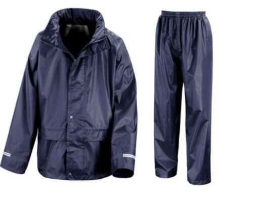 Result Core Junior Combinaison pluie-Enfant Unisexe Veste Imperméable /& Pantalon 3-12
