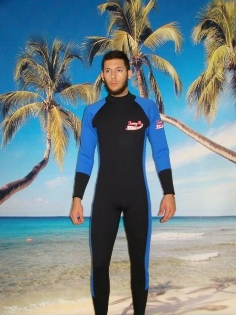 Wetsuit 3MM Rear Zip Small  to 5X Plus Size Stretch Series Dive Scuba 6803  factory direct