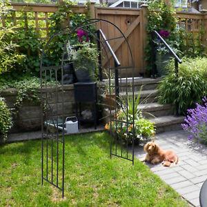 Voûte de Jardin 45x110x210cm Fer Arche à Rosiers Plantes Grimpantes Stock FR