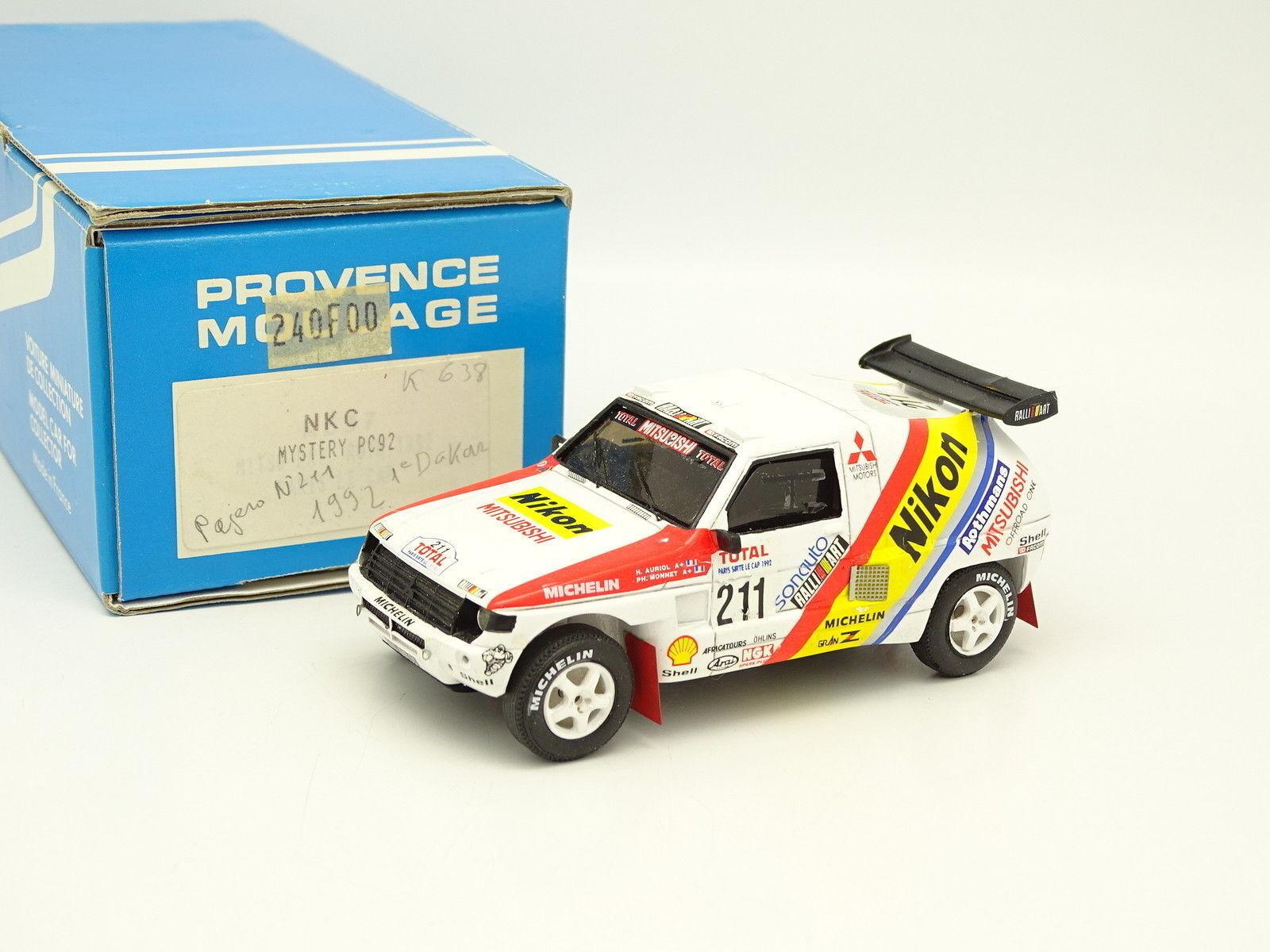 Provence Moulding Kit Assembled 1 43 - Mitsubishi Pajero Paris Dakar 92 Winner