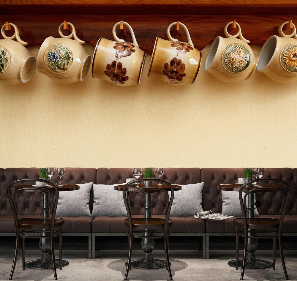 3D Kaffeetasse Warm 9733 Tapete Wandgemälde Tapeten Bild Familie DE Lemon