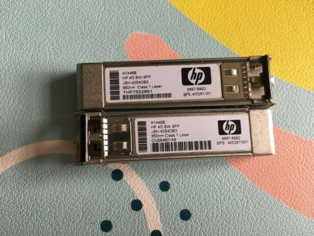 LOT OF 16 Genuine HP A7446B StorageWorks 4G SW SFP Transceiver Module 405287-001