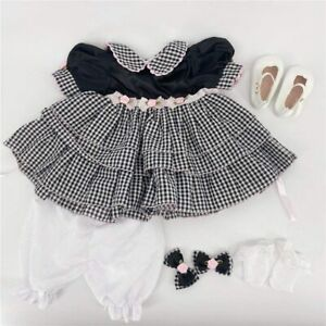 Newborn Clothes For Girl Reborn Baby Doll Outift For 24 Toddler Baby Grid Dress Ebay