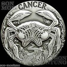 CANCER - #6 SkullCoins 2015 ZODIAC Memento Mori Series 1oz .999 SILVER Art Round