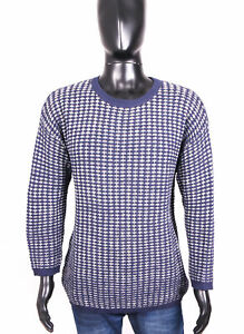*monki Mens Sweather Cotton Warm Pattern Grey S