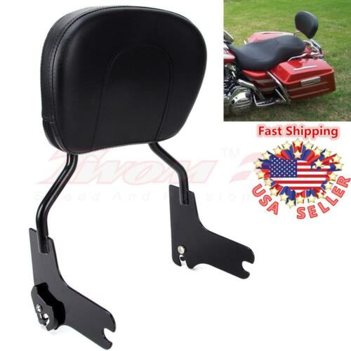 Quick Release Passenger Backrest Sissy Bar Detachable For Harley Touring 97-08