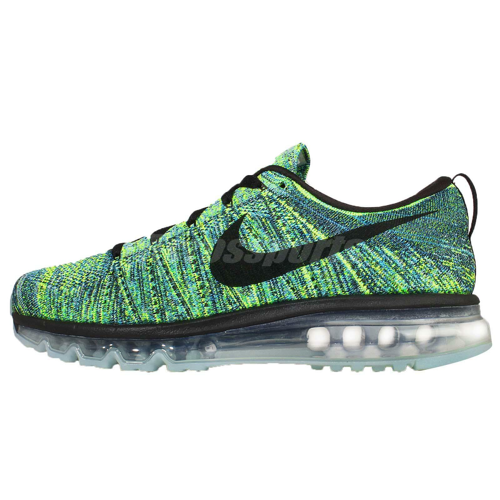 NEW 2018 NIKE FLYKNIT MAX RUNNING SHOES BLACK/BLUE LAGOON SIZE 8 Price reduction Seasonal price cuts, discount benefits