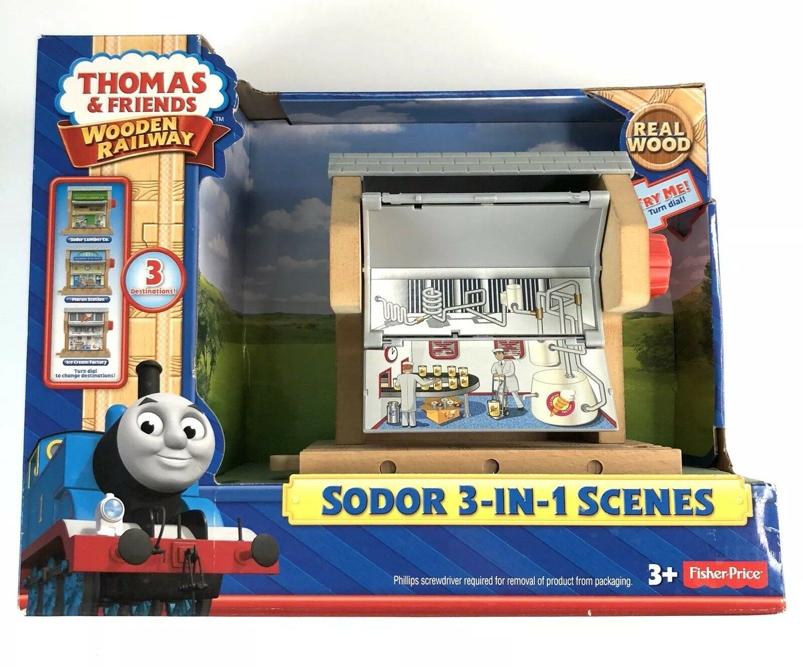 Thomas & Friends Wooden Railway Sodor 3-in-1 Scenes-  Y9000 Gift Christmas NIB