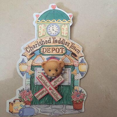 Spielzeug Cherished Teddies Pin Brosche 1996 Neu & Unbenutzt Rarität Auf Blister Enesco