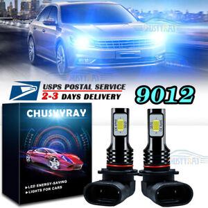 Ice Blue 9012 LED Headlight Bulb High//Low Beam for Chrysler 200 300 2011-2015 US