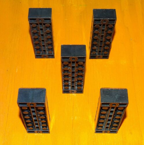 6-Position Electrical Barrier Blocks Screw Terminals – 35 Amps 600 Volts 5-PC