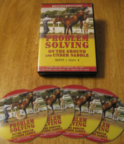 Clinton Anderson PROBLEM SOLVING on the ground Horse Training 4 DVD SET