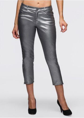 Très élégante et belle 7//8 Pantalon en Argent-Taille 40-k188-949735