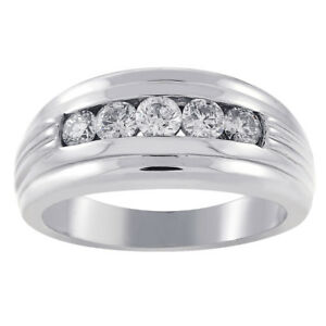 Bridal & Wedding Party Jewelry Engagement & Wedding 1.5 Ct G-h Diamond Anniversary Solitaire Ring Eternity Band Set 14k White Gold Durable In Use