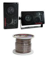 2) Pyramid 2060 300w 3-way Car/home Audio Mini Box Speakers + 14 Gauge Wire on sale