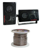 2) Pyramid 2060 300w 3-way Car/home Audio Mini Box Speakers + 14 Gauge Wire