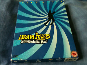 AUSTIN-POWERS-Shagadelic-Box-DVD-Collection-2003-3-Disc-DVD-Boxset-creased-box