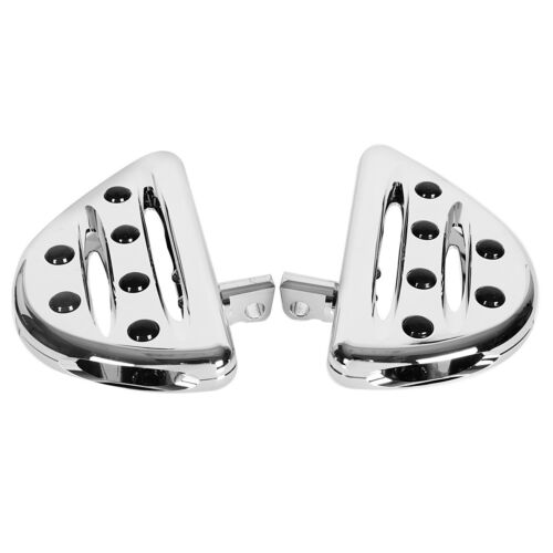 Rear Chrome Shallow Cut Passenger Floorboards for Harley Touring Street Glide