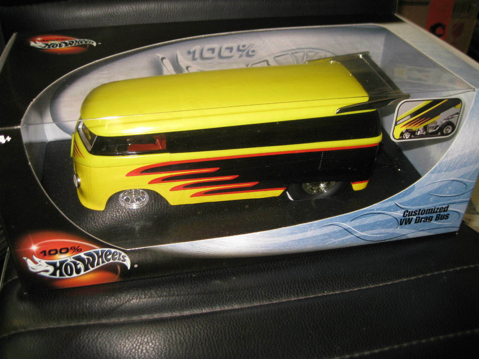 HOT WHEELS 1 18 SCALE CUSTOMIZED VW DRAG BUS KOMBI YELLOW AWESOME LOOKING MODEL