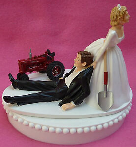 Farmer Wedding Cake Topper