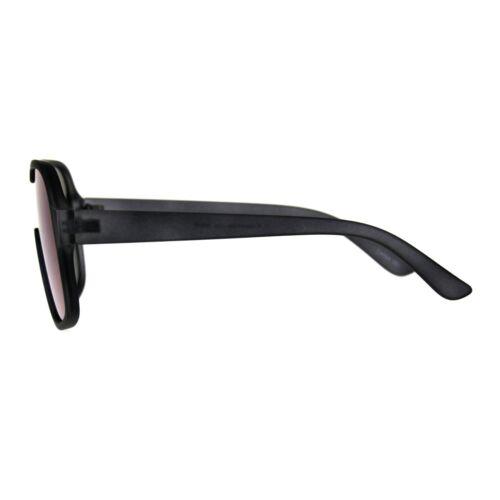 Mens Fashion Sunglasses Matted Square Frame Mono Lens UV 400