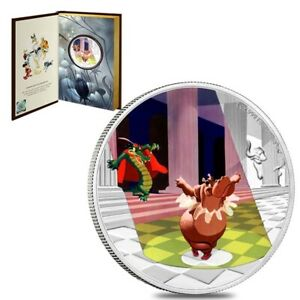 2020 Niue 1 oz Colorized Silver Dance of the Hours - Disney's Fantasia 80th Ann