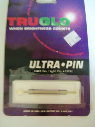 8-32 Yellow #4224YL New Old Stock TruGlo Ultra Pin .040 Dia Sight pin
