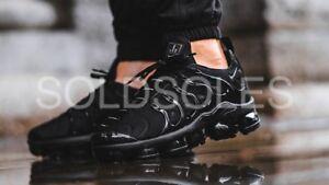 new concept a9fc7 c845d Details about Nike Air Vapormax Plus Triple Black