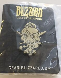 Blizzcon-Tyrande-Cute-But-Deadly-World-of-Warcraft-GOLD-pin-Blizzard-Rare-New