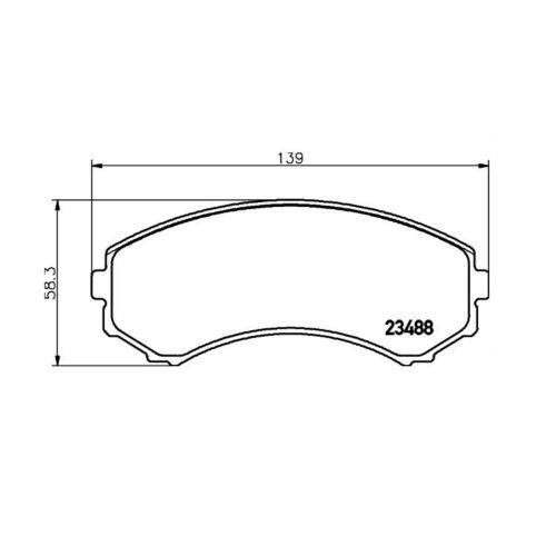 Textar Bremsbeläge vorne Mitsubishi Grandis Pajero III IV Proudia 2,0-4,5