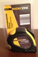 Workzone Heavy Duty High Quality Locking Tape Measure 33 Ft Aldi Work Zone