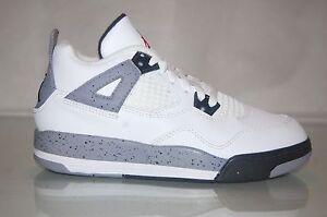 calcular Fuera de servicio Estimar  Nike Air Jordan Retro 4 White Cement Preschool PS 308499-103 Size 13.5 C |  eBay
