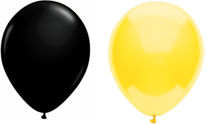 """Black and Yellow Birthday Party Balloons Weddings Arch 12/"""" Multipack"""